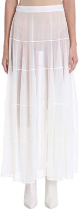 Jil Sander Semi Sheer Long Viscose Skirt
