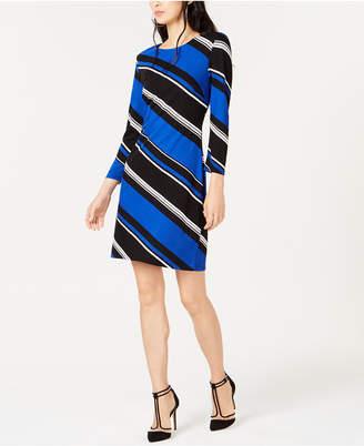 INC International Concepts I.n.c. Diagonal-Striped Shift Dress