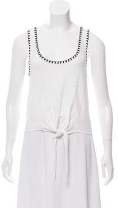 Alice + Olivia Sleeveless Tie-Accented Top w/ Tags