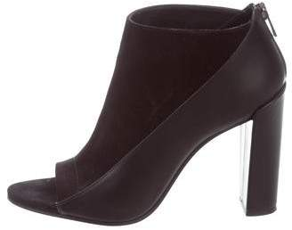 Vince Suede Leather-Trimmed Booties