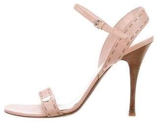 Fendi Ankle Strap Leather Sandals