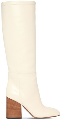 Marni 90MM LEATHER TALL BOOTS