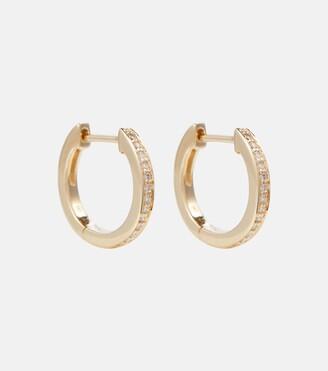 Sydney Evan Huggie 14kt gold and diamond earrings