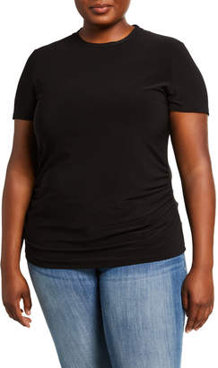 Anne Klein Plus Size Shirred Waist T-shirt