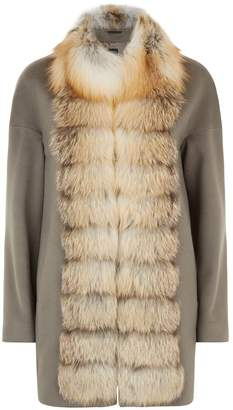 Cinzia Rocca Fox Fur Trim Coat