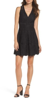 Women's Adelyn Rae Fit & Flare Dress $98 thestylecure.com