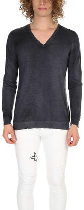 Avant Toi Cashmere Destroyed V Neck