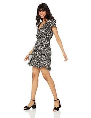 J.Crew Mercantile Women's Short-Sleeve Printed Ruffle Wrap Dress