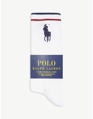 Polo Ralph Lauren Technical Sport stretch-cotton crew socks