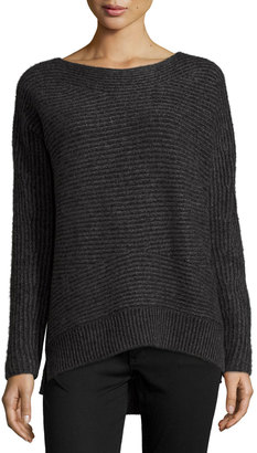 Philosophy Cashmere High-Low Jumper Sweater, Chalkboard $199 thestylecure.com