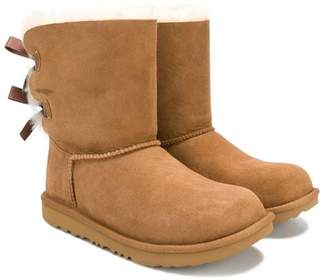 UGG TEEN bow shearling boots