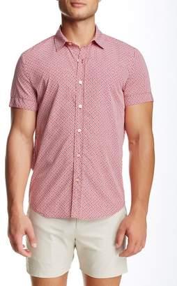 Parke & Ronen Biscayne Printed Short Sleeve Slim Fit Shirt