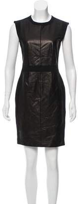 Rebecca Taylor Leather-Accented Sleeveless Dress w/ Tags