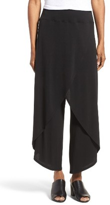 Women's Eileen Fisher Silk Cross Front Wide Leg Pants $298 thestylecure.com