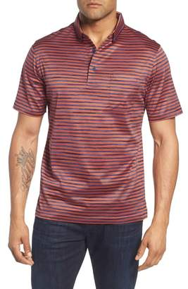 Bugatchi Stripe Knit Polo