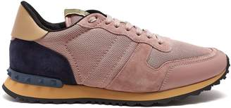 Valentino Rockrunner mesh and suede trainers
