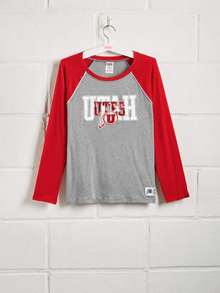 PINK University of Utah Sequin Bling Baseball Tee