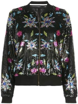 Nicole Miller Dahlia sequined bomber jacket