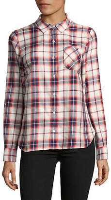 Tommy Hilfiger Plaid Roll Tab Button-Down Shirt