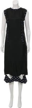 Maison Margiela Printed Wool Midi Dress w/ Tags