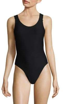 Rochelle Sara Turrini Ribbed One-Piece Swimsuit