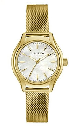 Nautica Women's 'NCT 18 MID' Quartz Stainless Steel Casual Watch, Color:Silver-Toned (Model: NAD12546L) $125 thestylecure.com