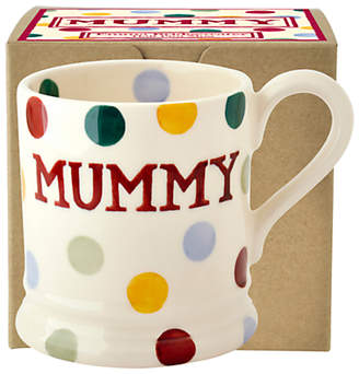 Emma Bridgewater Polka Dot Mummy Half Pint Mug, Multi, 284ml