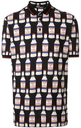 Dolce & Gabbana bottle print polo shirt