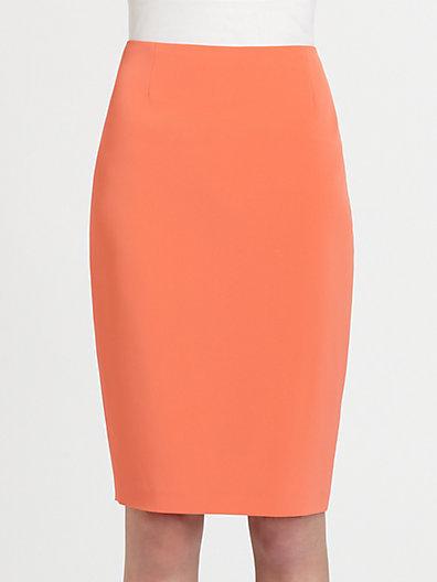 Elie Tahari Crepe Pencil Skirt