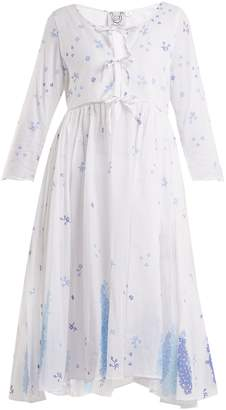 Thierry Colson Sahar floral-print bow-detail cotton dress