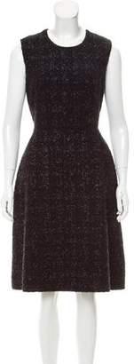 Simone Rocha Tweed Midi Dress