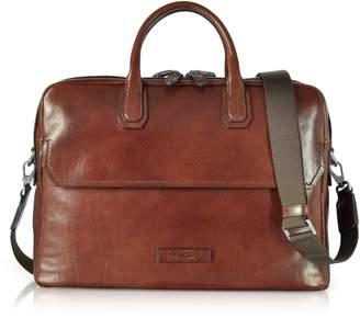 at Italist · The Bridge Williamsburg Brown Leather Large Briefcase  W shoulder Strap 93375842ec538