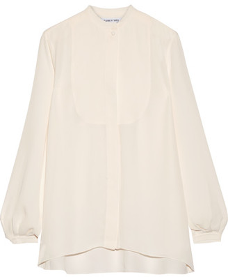 Elizabeth and James - Landon Chiffon Blouse - Cream $295 thestylecure.com