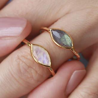 Marquis Auren 18ct Gold Vermeil Shape Moonstone Ring