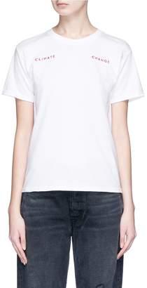 Collina Strada 'Climate Change' embroidered slogan T-shirt