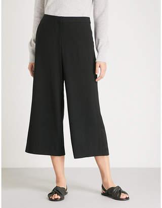 Rag & Bone Molly high-rise wide-leg cotton-blend trousers