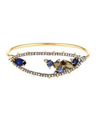 Alexis Bittar Crystal Spike Tension Bangle $225 thestylecure.com