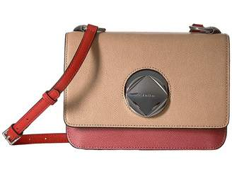 Calvin Klein Reese Mercury Structured Flap Crossbody Cross Body Handbags