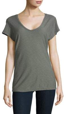 James Perse V-Neck Cotton & Modal Tee