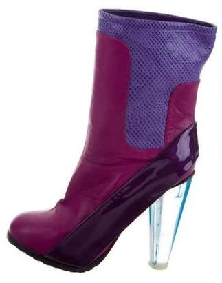 Emilio Pucci Karung-Trimmed Platform Boots