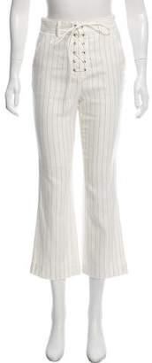 Veronica Beard High-Rise Cropped Pants