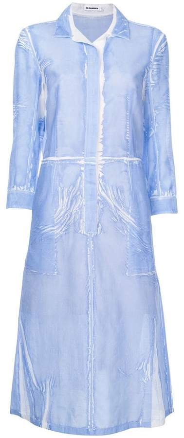 Jil Sander creased effect shirt dress
