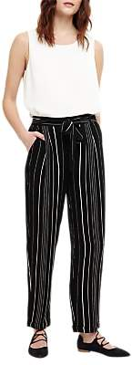 Phase Eight Helen Striped Trousers, Black/Ivory