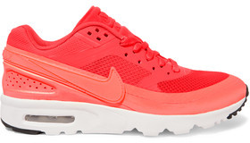 Nike Air Max Bw Ultra Mesh And Leather Sneakers $130 thestylecure.com