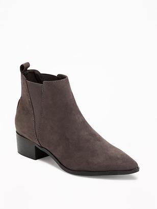 Sueded Pointy-Toe Ankle Boots for Women $44.94 thestylecure.com