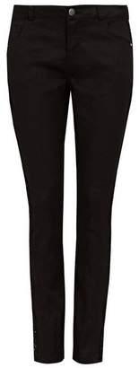 Wallis Petite Black Sequin Seam Slim Jean
