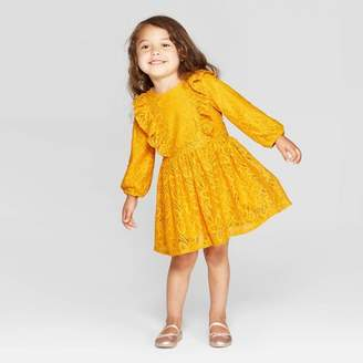 Cat & Jack Toddler Girls' Lace Dress - Cat & JackTM Gold