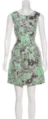 Lela Rose Printed Sleeveless Mini Dress