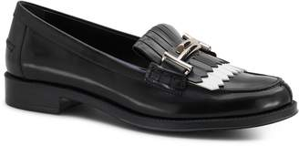 Tod's Double T Fringed Leather Loafers