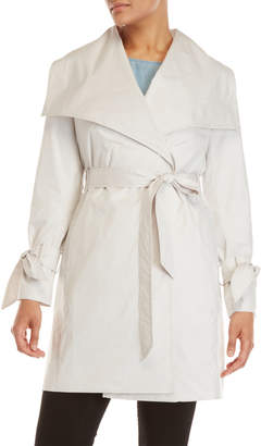 DKNY Packable Belted Trench Coat